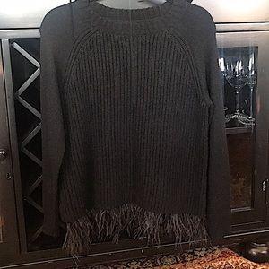 """Gianni Bini """"Farah"""" feather trim sweater"""